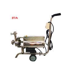 110v 304 Food Grade Centrifugal Pump Sanitary Beverage Pump 3 Th Single Suction