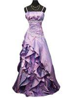 Robe de cérémonie longue violette, cocktail, soirée, mariage T 38 A 56 clair