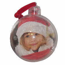 Christmas Tree Decoration - 70mm Bauble - Personalise your own Photo
