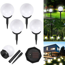 4 Pcs Solar Led Ground Light Ball Lamp Outdoor Garden Yard Path Decor Waterproof