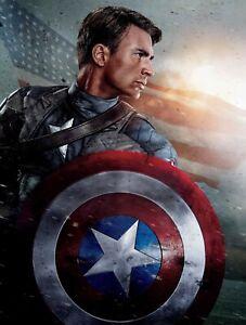 Captain America Movie Poster Print (12x18)  MARVEL CHRIS EVANS