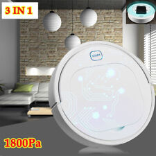 3 IN 1 Smart Robot Vacuum Cleaner Mop Automatic Sensor Edge Dry/Wet Floor 1800Pa
