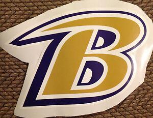 "8"" x 12"" NFL TEAM B Logo Baltimore Ravens Fathead Wall Graphics vinyl"