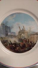 Assiette Limoges porcelaine de Sologne / Prise de la Bastille