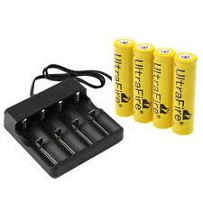 4pcs 9800mAh 18650 3.7V Li-ion Rechargeable Battery + Smart Charger Indicator