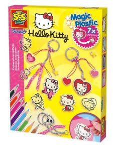 SES Creative Zauberschrumpffolie Magic Plastic Hello Kitty Anhänger Bastelset