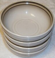 SET OF 4   NORITAKE  FANFARE   SOUP / CEREAL  BOWLS   Tan / Brown   6 3/8 inches