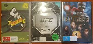 Iron Man 2 DVD , 2 UFC Ultimate Fighting Championship DVDs