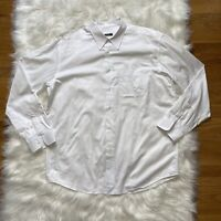 Zanella Mens Button Up Shirt White Dress Long Sleeves Made In Italy 2XL XXL
