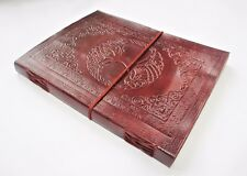 Fair Trade Tree of Life Handmade A4 Leather Journal. Diary,Sketchbook, Scrapbook