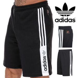 ADIDAS ORIGINALS Mens Shorts Gym ZX Knee Length Black Size S M L XL Medium Large