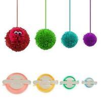 4 Sizes Pompom Maker Fluff Ball Weaver Needle Craft Wool Tool Knitting DIY L3O7
