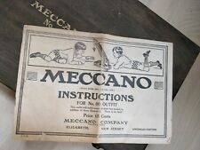 Vintage 1920s Original Meccano Instructions for  No. 00 Outfit Manual Book