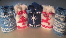 Bolsas De Regalo De Navidad Tejer patrón, diseños tradicionales