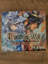 Force Of Will Alice Origin III Booster Box Sealed - English - In hand!