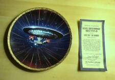 "STAR TREK  COMMEMORATIVE  PLATE VOYAGERS ""U.S.S. ENTERPRISE NCC-1701D"" w/COA"