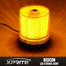 Xprite Emergency Flash Strobe Rotating Round 30 LED Beacon Warning Light-Amber