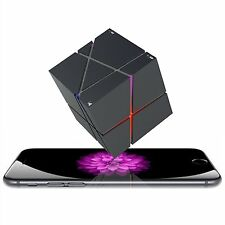 Bluetooth Wireless Stereo Cube Speaker LED Portable Music Player FM Mic Aux TF