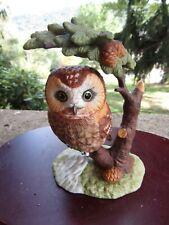 "Vintage 1999 Lenox Porcelain Figurine- Little Lookout Saw-Whet Owl ~ 5.0"" Tall"