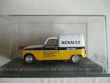MINIATURE RENAULT 4 F4 FOURGONNETTE RENAULT SERVICE 1983 1/43   UNIVERSAL HOBBIE