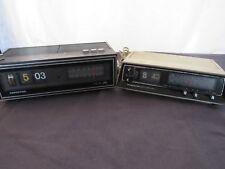 Rare Vintage Retro Soundesign & Magnavox Flip Number Alarm Clocks - Needs Repair