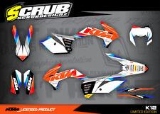 KTM graphics EXC decals 125 250 300 350 450 500 '14 '16 2014 2015 2016 SCRUB