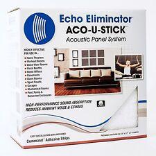 Aco-U-Stick Acoustic Panels, White