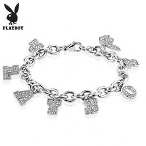 Bracelet Playboy Charms Rhinestone