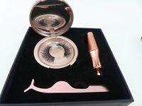 Magnetic Eyeliner and Magnetic Eyelash Kit, No Glue Reusable Silk False Lashes