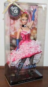 DOTW France Barbie 50th Anniversary NRFB 2008 Pink Label #N4972