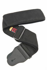 """D'Addario Planet Waves 3"""" Padded Woven Bass Guitar Strap - Black"""