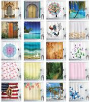 Ambesonne Waterproof Cloth Shower Curtain Batroom Decor & Hooks