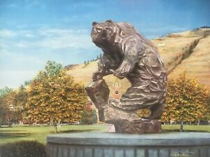Trudy Evenson Strength of Grizzly Mascot of University of Montana Ltd Ed Print