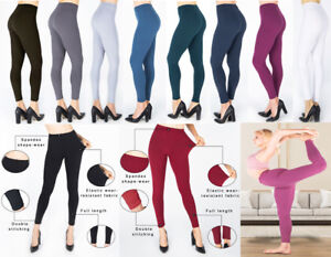 PLUS SIZE Womens Ladies Pencil Seamless Stretchy Full Length Leggings Office New
