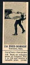 1925 Dominion Chocolate Sports Card #116 Fred Robson (Speed Skating)
