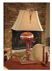 Vintage Direct CL3404 Boat Motor Table Lamp, Aged Walnut
