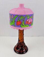 AVON - VINTAGE 1972 AVON TIFFANY LAMP DECANTER / BOX - PLASTIC TOP