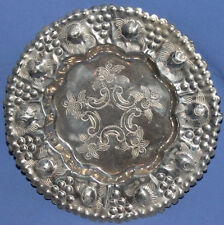 Vintage Hand Made Decorative Tin Floral Plate