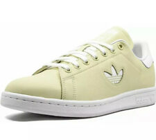 New Adidas Mens 9 Originals Stan Smith Tennis Yellow Cloud White Bd7438 Sneakers