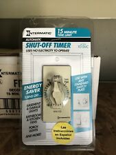 Intermatic Fd15Mc 15 Minute Spring Loaded Wall Timer for Fans and Lights Ivory