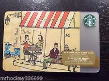 2014 Starbucks Canada Italian Post Office / Bistro Theme GiFT CARD (NCV)