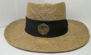 Western Beige Straw Summer Unisex Hat BTS USA Black Band with RRR Logo