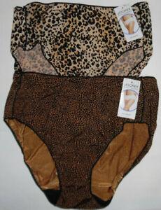 2 Jockey Hip Brief Panty Set 1372 Logo No Line Tactel Black Brown Animal 8 XL