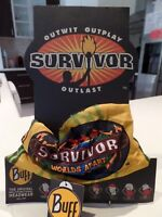 SURVIVOR BUFFS Worlds APART Yellow GOLD Masaya TRIBE BUFF BNWT MINT Condition