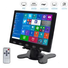 "7"" TFT LCD CCTV Monitor HD PC Screen AV/RCA/VGA/HDMI 1024*600 Video w/ Speaker"