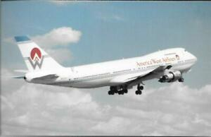 AIRLINE ISSUE  POSTCARDS-AMERICA WEST AIRLINES-B747-200