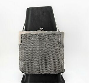 Vintage .800 Fine Silver Mesh Bag w/Monogram