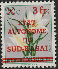 Sud-Kasai 1961 flower set OBP 1/13 opt varieties. Select the ones you want. MNH.