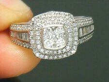18ct White Gold 18K Gold 0.75ct Diamond Hallmarked Engagement ring size N