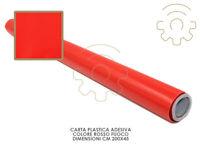 Carta plastica pellicola adesiva rosso fuoco mt 2x45 cm per cassetti mobili
